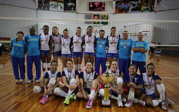 Vôlei Feminino de São José é ouro nos Abertos (Foto: Antônio Basílio/ PMSJC)