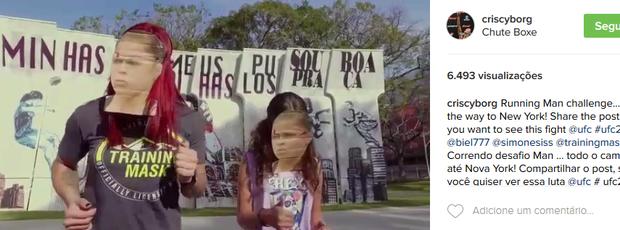 BLOG: Cyborg faz vídeo com máscara de Ronda e pede duelo em Nova York