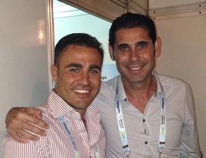 Cannavaro e Hierro instagram (Foto: Reprodução / Instagram)