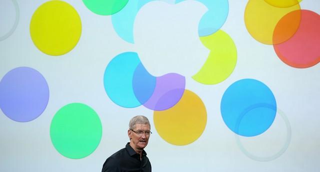 Tim Cook, CEO da Apple, durante apresentação do novo iPhone (Foto: Getty Images)