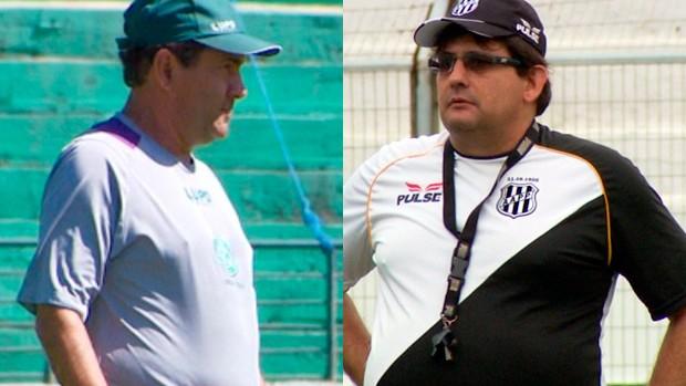 Zé Teodoro e Guto Ferreira estreiam em dérbis neste sábado (Foto: Editoria de Arte/Globoesporte.com)