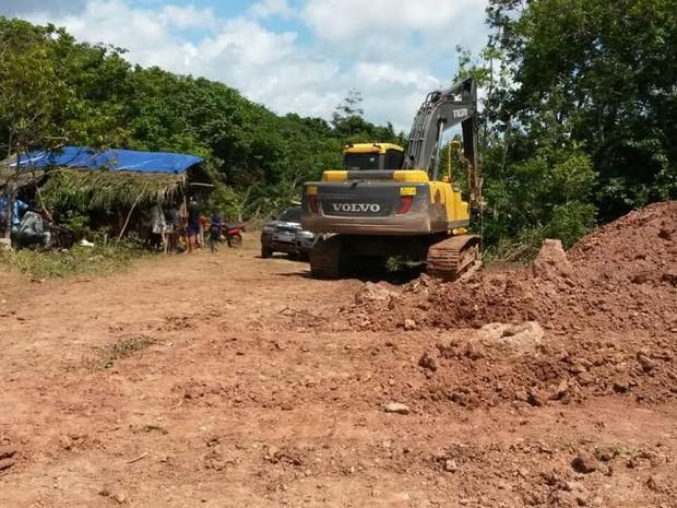 Polícia descobre garimpo ilegal na cidade de Godofredo Viana, no MA (Foto: Divulgação/Polícia Civil)