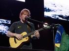 Famosos vão à show de Ed Sheeran em São Paulo