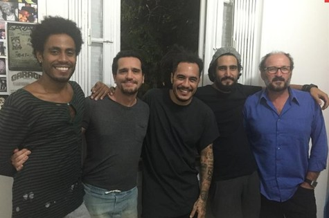 Ícaro Silva, Johnny Araújo, Marcelo D2, Renato Góes Paulo Roberto Schmidt  (Foto: Divulgação)