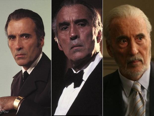 Christopher Lee: como Scaramanga em '007 contra o homem com a pistola de ouro' (1974), em 'A mansão da meia noite' (1983) e em 'Triage' (2009) (Foto: Divulgação/MGM)