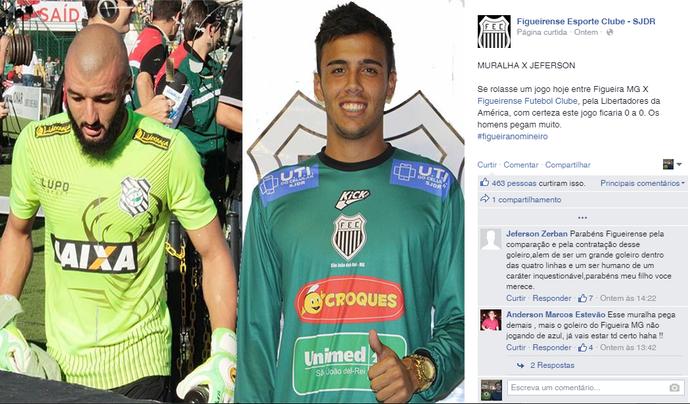 Alex Muralha Jefferson Figueirense Minas Gerais Santa Catarina (Foto: Reprodução/Facebook)