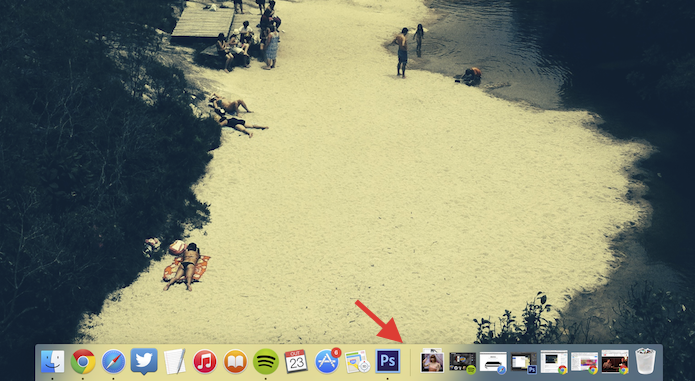 Movendo o dock na tela do Mac OS X Yosemite (Foto: Reprodução/Marvin Costa)