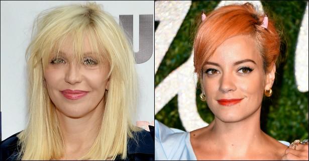 """Courtney Love já brigou publicamente com Madonna e Gwen Stefani, do No Doubt. Recentemente, chegou a vez de Lily Allen. A viúva de Kurt Cobain usou o Twitter para chamar a cantora de 'Sheezus' de """"gorda"""" e """"bebezinho mimado"""". (Foto: Getty Images)"""