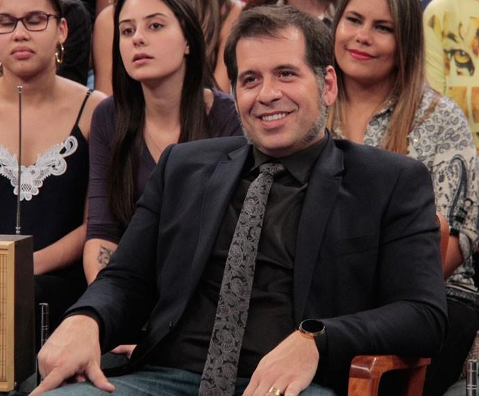 Leandro Hassum participa da gravação do programa Altas Horas (Foto: Marcos Mazini/Gshow)