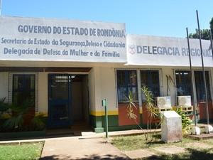 delegacia regional de ariquemes (Foto: Ana Claudia Ferreira/G1)