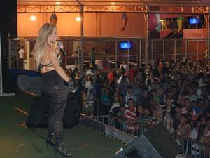Banda Afrodite foi grande atração da noite de quarta em João Pessoa (Foto: Taiguara Rangel/G1-PB)