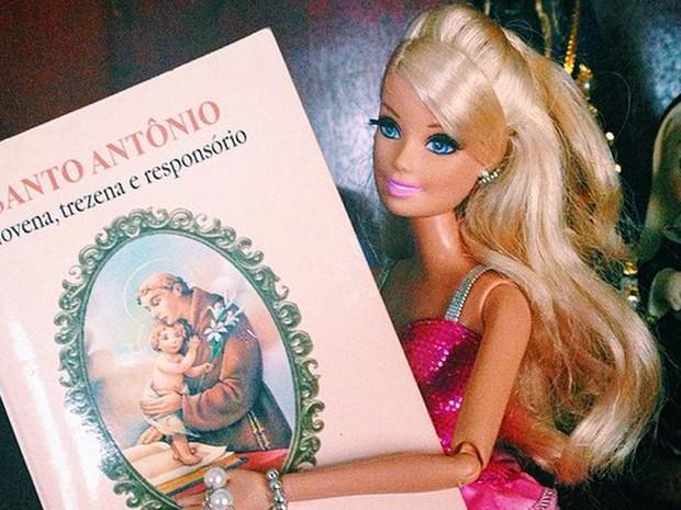 'Faça uma trezena para Santpo Antônio' (Foto: Cris Vieira)