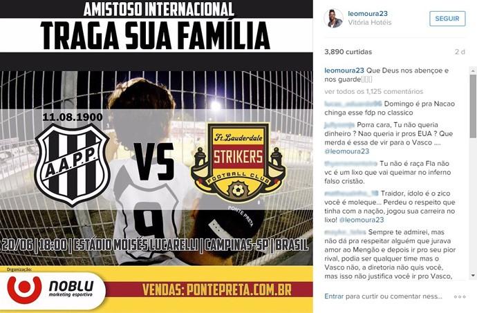Reprodução Instagram Leo Moura