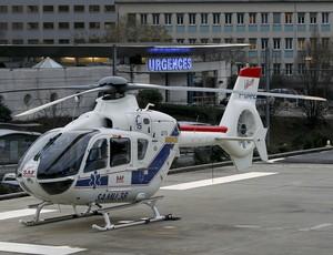 helicoptero Hospital schumacher frança Centre hospitalier de Moûtiers (Foto: Agência Reuters)