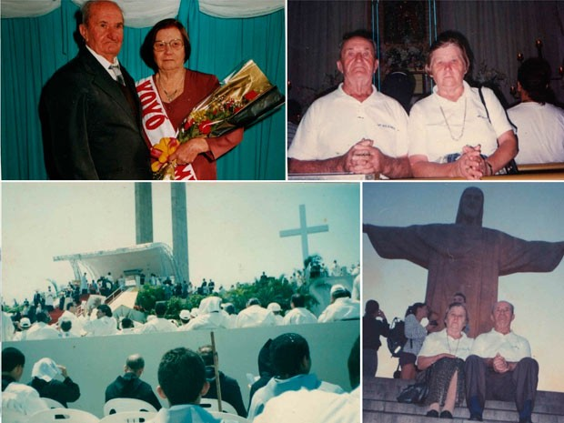 Pais de Cláudio Woidyla estiveram no Rio de Janeiro em 1997, acompanhando a visita de João Paulo II (Foto: Arquivo Pessoal)