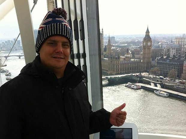 Analista de comércio exterior Daniel Duarte, morador de Vinhedo (SP), durante viagem pela Europa (Foto: Daniel Duarte/Arquivo Pessoal)