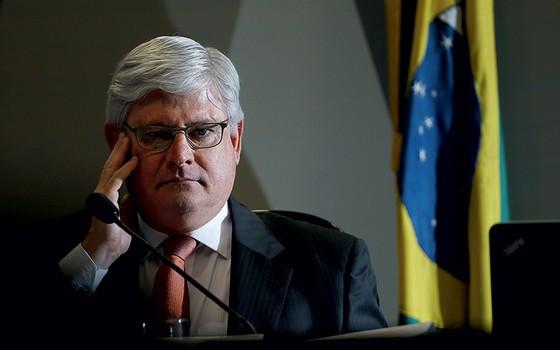 O procurador-geral Rodrigo Janot durante  a sabatina (Foto: Adriano Machado/ÉPOCA )