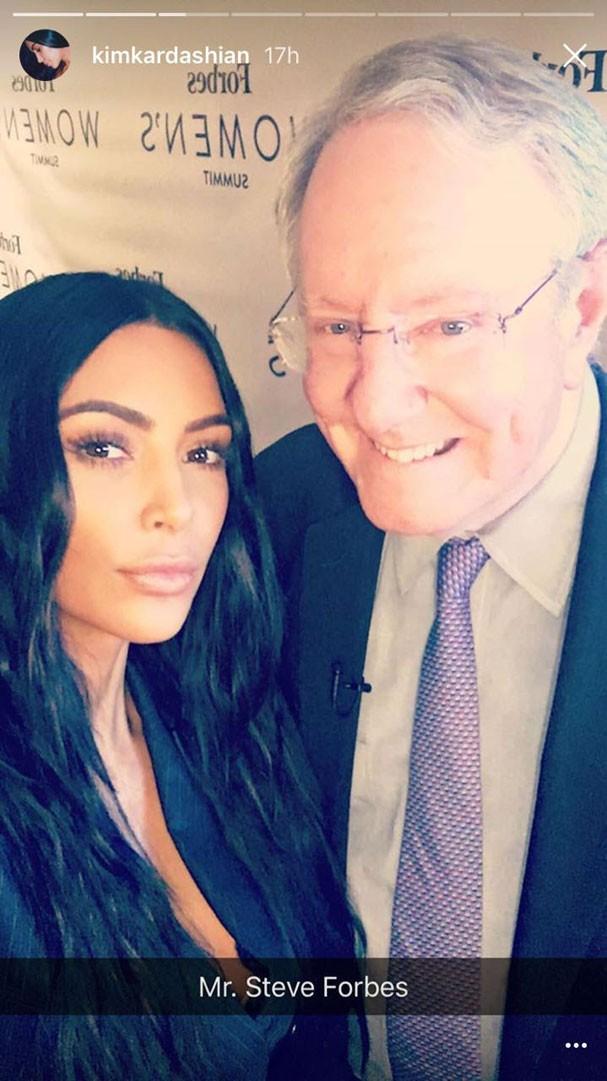 Kim Kardashian participou do Forbes Women's Summit 2017 (Foto: Reprodução Instagram)