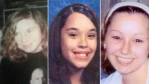 Michelle Knight, Gina DeJesus e Amanda Berry desapareceram entre 2002 e 2004 (Foto: Divulgação)
