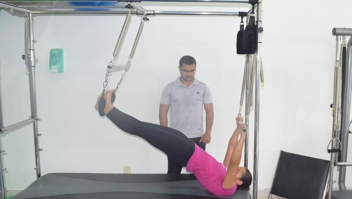 Pilates;Rodrigo Sales;Flávia Cantanhede;Roraima (Foto: Bruno Willemon)