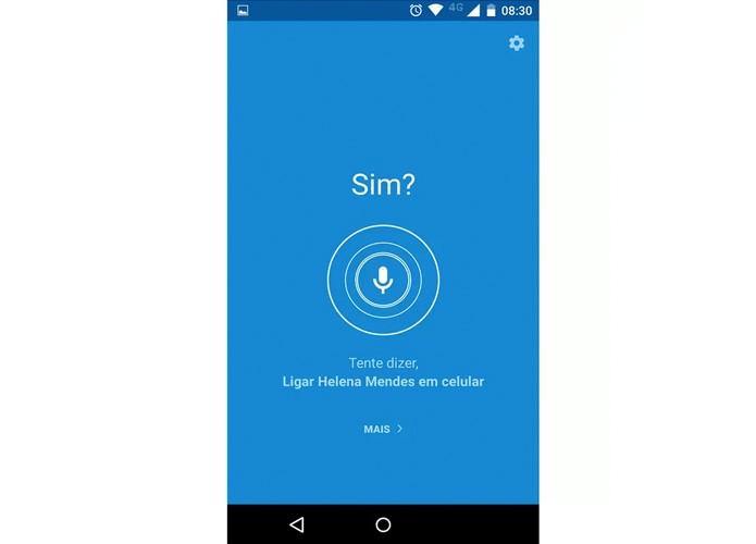 Tela para ativar o comando de voz no Moto X (Foto: Reprodução)