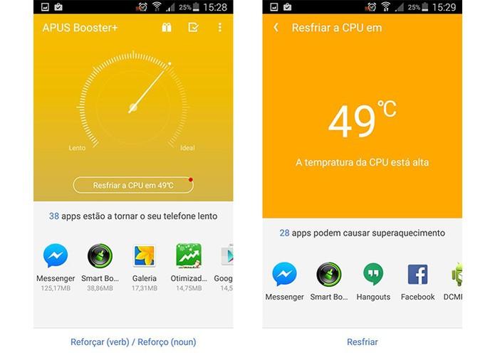 APUS Booster+ acelera o funcionamento do celular otimizando RAM e fechando apps (Foto: Reprodução/Barbara Mannara)