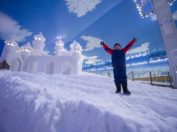Snowland é o primeiro parque de neve indoor da América Latina (Foto: Divulgação/Prefeitura de Gramado)