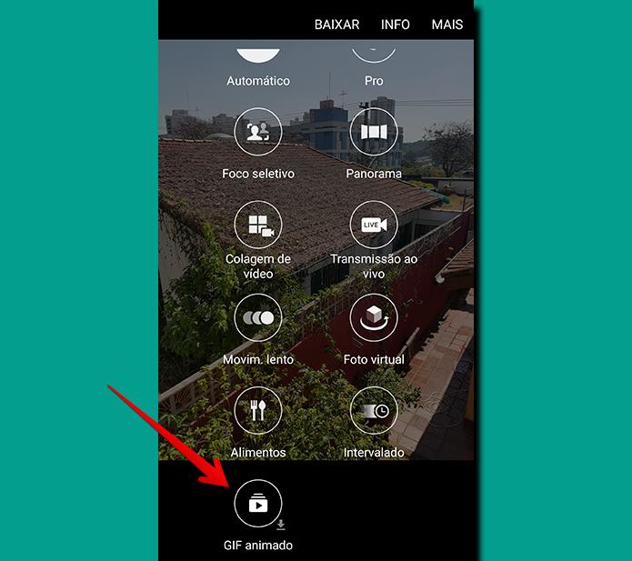 Depois da instalação, você vai encontrar o novo modo aplicado entre as opções da câmera (Foto: Reprodução/Filipe Garrett)