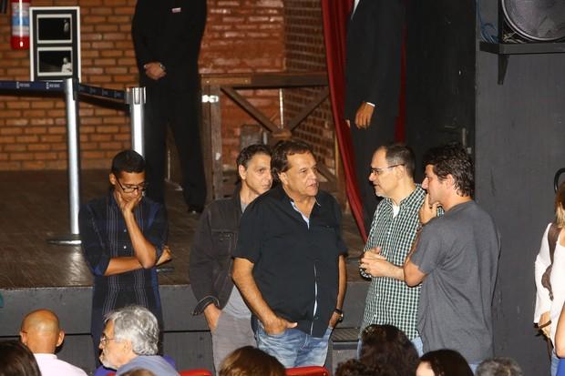 Dennis Carvalho no velório de José Wilker (Foto: Marcello Sá Barretto / AgNews)