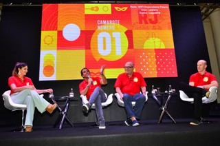 Carol Sampaio, Álvaro Garneiro,  José Vitor Oliva e Marcio Esher (Foto: Roberto Teixeira/EGO)