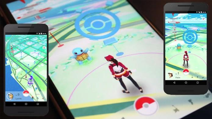 Pokémon Go exibe jogador pronto para capturar um Squirtle no mapa (Foto: Reprodução/Polygon)
