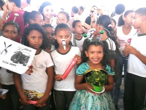 Mobilização teve ações em escolas públicas da capital maranhense (Foto: Joyce Mackay / G1)