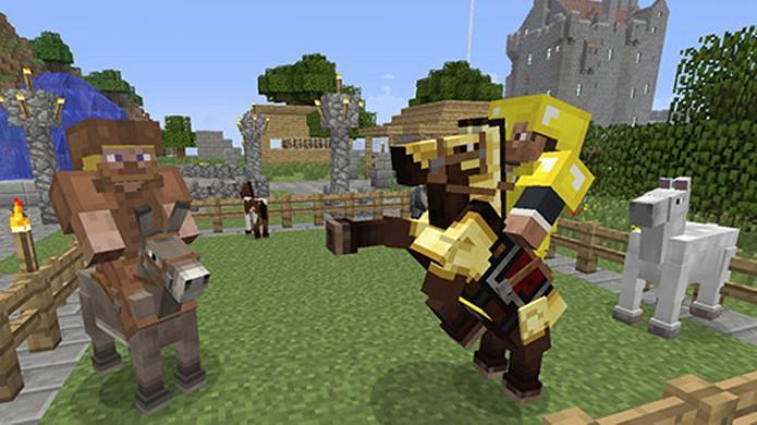 Cavalos foram adicionados na última atualização de Minecraft (Foto: Joystiq)