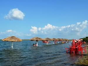 Um lugar paradisíaco em Roraima, onde o descanso e o lazer são opções para os visitantes  (Foto: Neidiana Oliveira/G1)