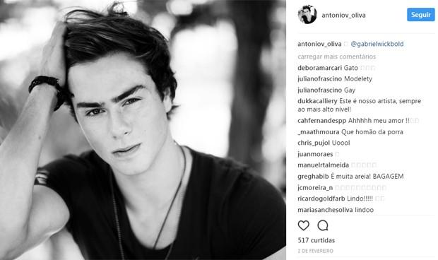 Antônio Oliva, filho caçula de Hortência, conquista elogios na web (Foto: Reprodução/Instagram)