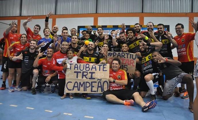 Taubaté Handebol Campeão Pan-Americano 2015 (Foto: Divulgação/Taubaté Handebol)