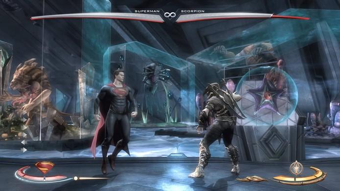 O zoológico do Superman em Injustice (Foto: Reprodução/Felipe Vinha)