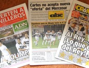 jornais destacam vitória do Olimpia (Foto: Léo Simonini)