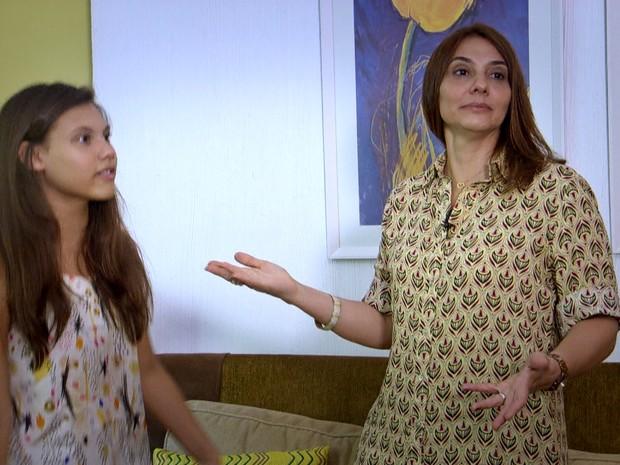 Regidas pelos hormônios, Gisele e Sofia duelam todos os dias (Foto: TV Globo)