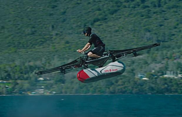 Kitty Hawk lrevela seu veículo voador pessoal The Flyer  (Foto: Reprodução)