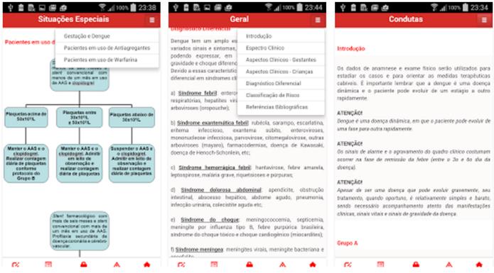 O aplicativo Dengue - Manejo Clínico, possui várias informações sobre a dengue (Foto: Divulgação/Google Play)