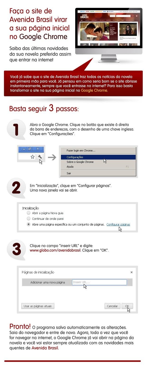 Tutorial google chrome (Foto: Avenida Brasil/TV Globo)
