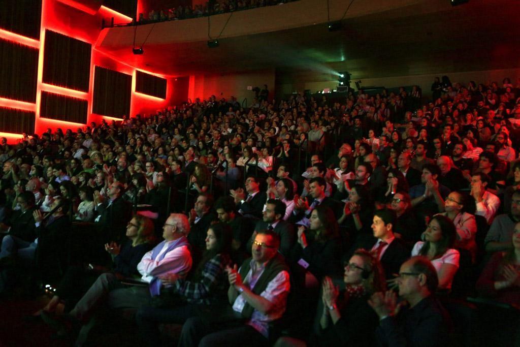 Dawkins palestrou para um auditório lotado (Foto: Divulgação)