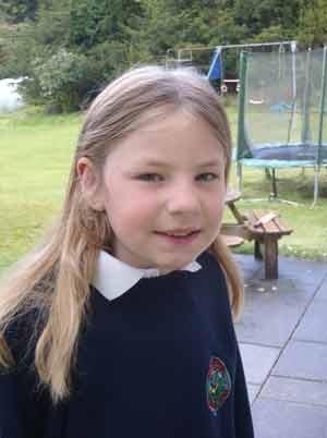 A estudante escocesa Martha Payne (Foto: BBC)