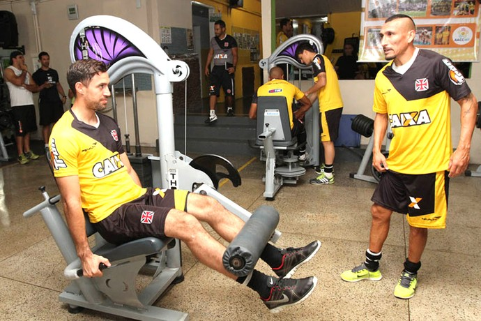 Martín Silva e Guiñazu treino do Vasco (Foto: Reprodução / Site Oficial do Vasco)