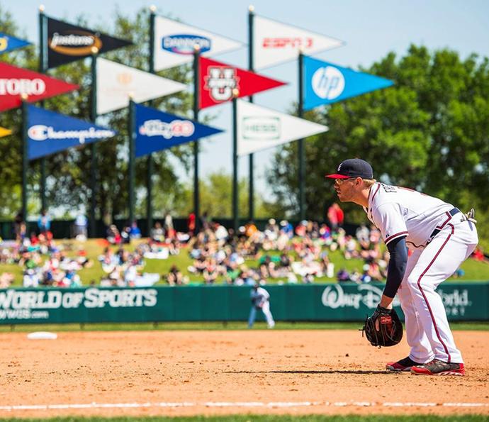 Visitantes podem assistir aos treinos de beisebol que ocorrem no complexo esportivo (Foto: Walt Disney World)