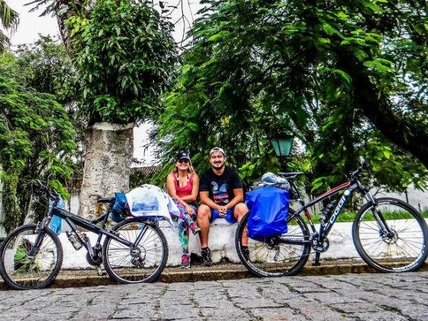 Ciclistas viajam mais de 11 mil km pela América do Sul; FOTOS (Foto: Divulgação/Saindo da Casinha)