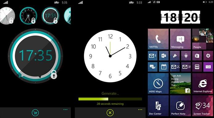 Perfect Clock apresenta uma coleção completa de relógios para a tela inicial do sistema (Foto: Divulgação/Windows Store)