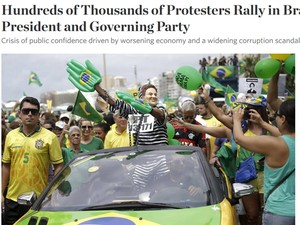 The Wall Street Journal - protestos (Foto: Repdoução / The Wall Street Journal)
