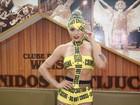 Juju Salimeni usa look inspirado em Lady Gaga para ensaio de carnaval